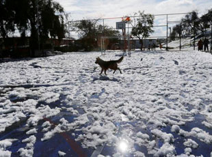 智利首都遇數十年來最大降雪