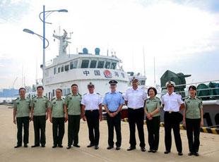 德国联邦警察海警访问团到辽宁海警参观访问