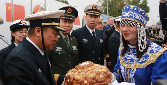 '海上联合-2017'演习中方参演舰艇抵达波罗的斯克
