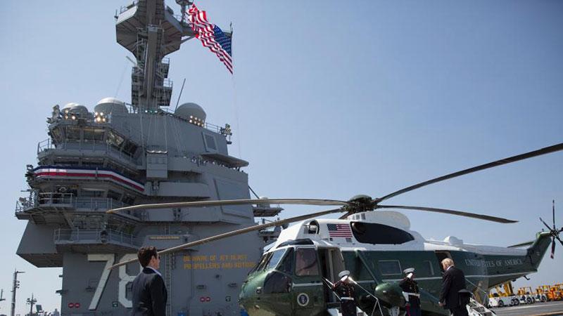"""美国""""福特号""""航母正式服役 系美军最大核动力航母"""