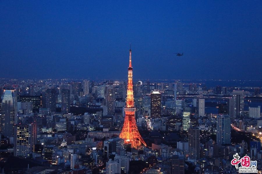 东京塔的照明时间为日落到午夜