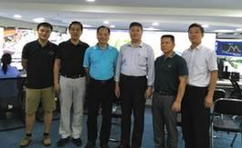 罗亚蒙教授在广州车陂综合执法指挥中心调研