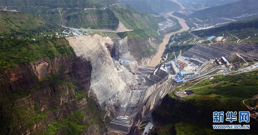 全球在建最大水电站白鹤滩主体工程全面建设图片