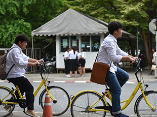 中國共用單車進入泰國大學校園