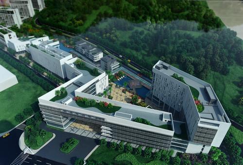 資料圖:廣東以色列理工學院校園沙盤模型。新華社記者 盧漢欣 攝