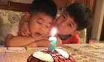 沙溢全家为小鱼儿庆3岁生日 安吉抱弟弟唱歌