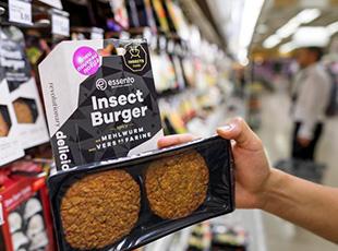 瑞士推出欧洲首款昆虫汉堡