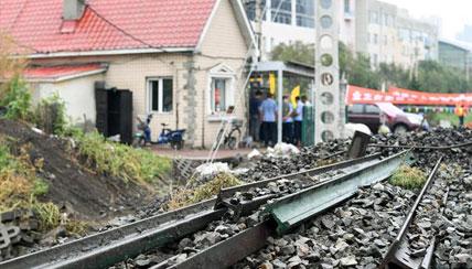 哈尔滨:百年铁路老道口被拆除
