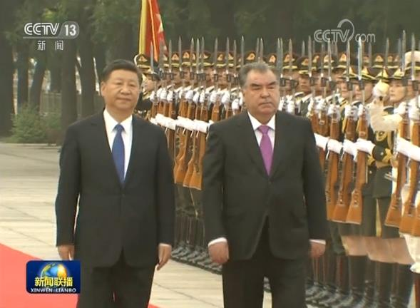 习近平举行仪式欢迎塔吉克斯坦共和国总统访华