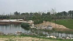 北京萧太后河湿地公园建设工地