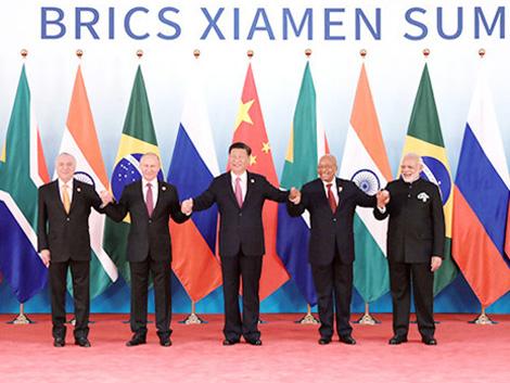 金磚國家領導人廈門會晤:努力把世界經濟的蛋糕做大