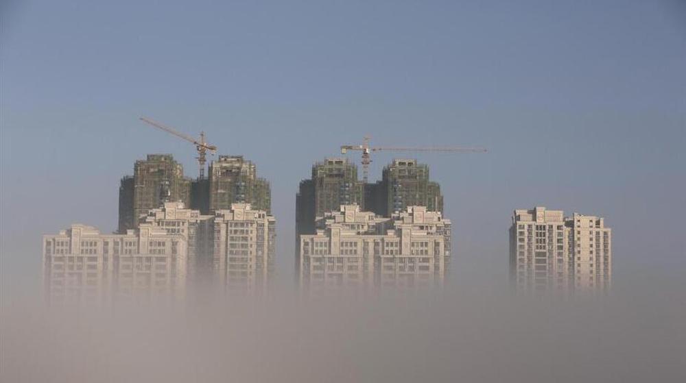 湖北襄阳现平流雾景观 汉江两岸如梦如幻