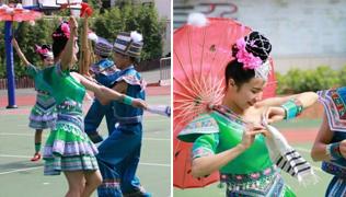 """""""非遗""""文化进校园 广西萌娃感受民俗魅力"""