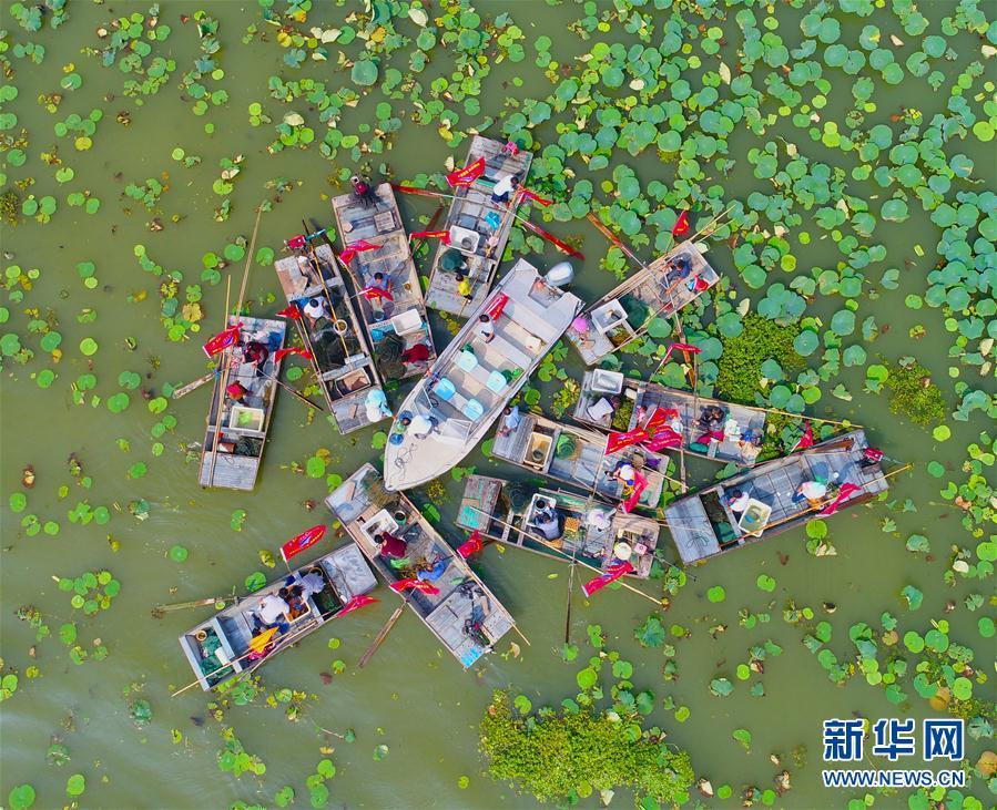 江苏泗洪:洪泽湖大闸蟹开捕上市[组图]