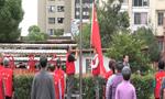 上海一个小区每天自发升旗 部队士兵曾专门指导