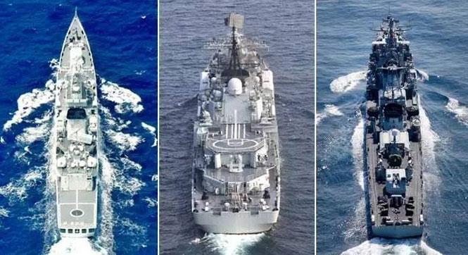 中国海军主力战舰证件照曝光