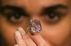 世界最大浓彩粉红色钻石拍卖 估价超2千万美元[组图]