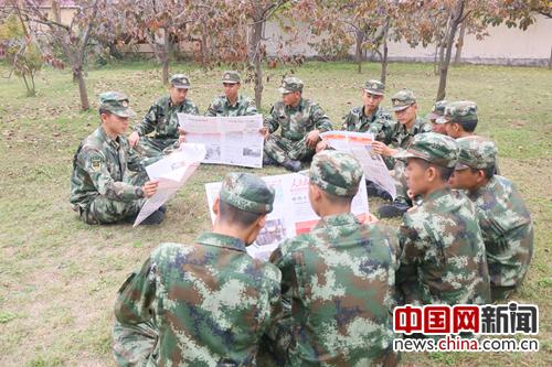武警河南总队新兵学习党的十九大精神