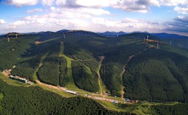 資料圖片:航拍植被良好的河北崇禮長城嶺(8月24日攝)。新華社記者 楊世堯 攝