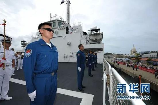 ▲資料圖片:2017年8月,中國海軍和平方舟醫院船抵達斯里蘭卡科倫坡港,進行為期4天的技術停靠。