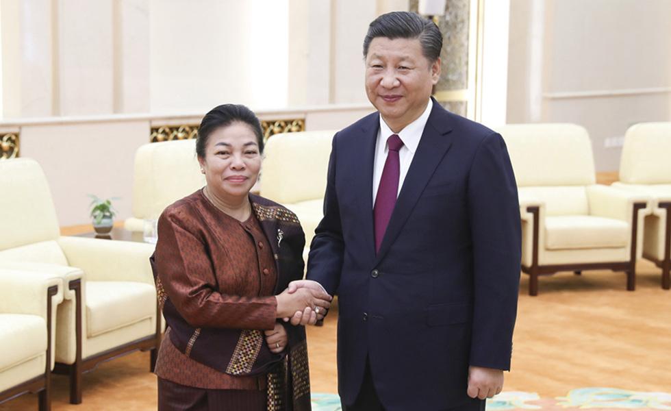習近平會見寮國人革黨中央總書記特使