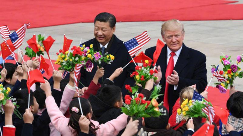 新华社独家:欢迎仪式和会谈照片来了