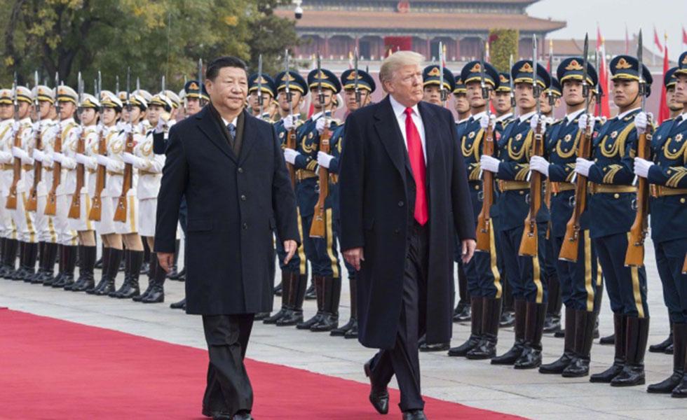 习近平为美国总统特朗普举行欢迎仪式