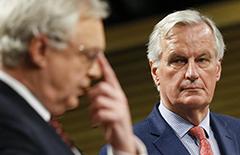 """第六轮英国""""脱欧""""谈判未取得实质性进展[组图]"""