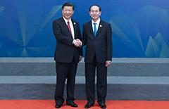 习近平出席亚太经合组织领导人同工商咨询理事会代表对话会[图]