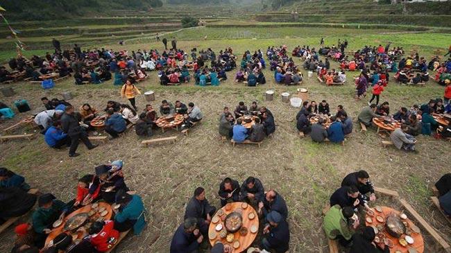"""贵州丹寨""""百鱼节"""":丰收的喜宴"""