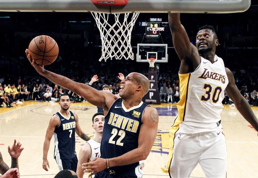 (体育)(3)篮球——NBA常规赛:湖人胜掘金
