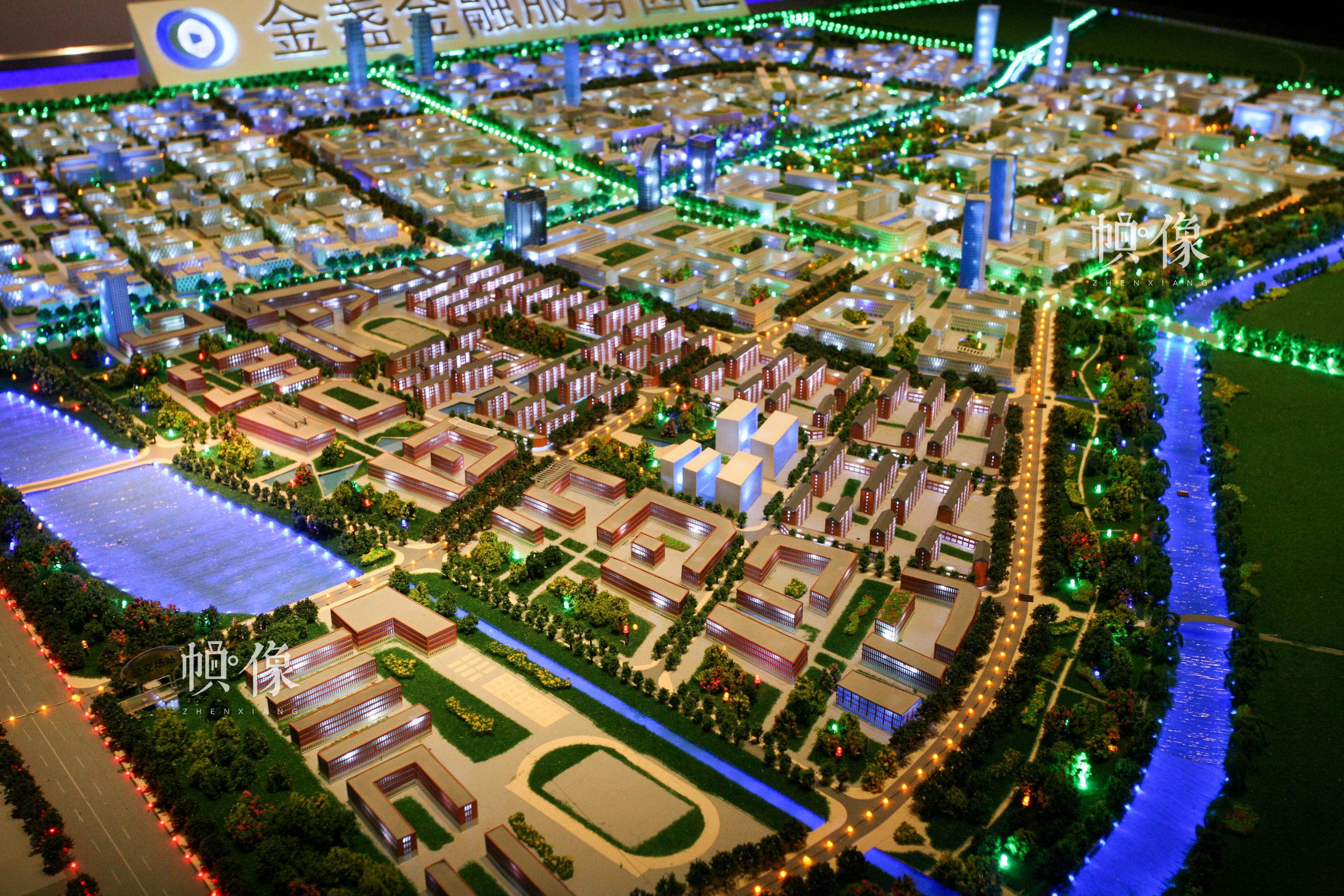 朝阳规划艺术馆未来空间展区展示朝阳区部分实景沙盘。朝阳规划艺术馆供图
