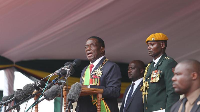 津巴布韦新任总统姆南加古瓦宣誓就职