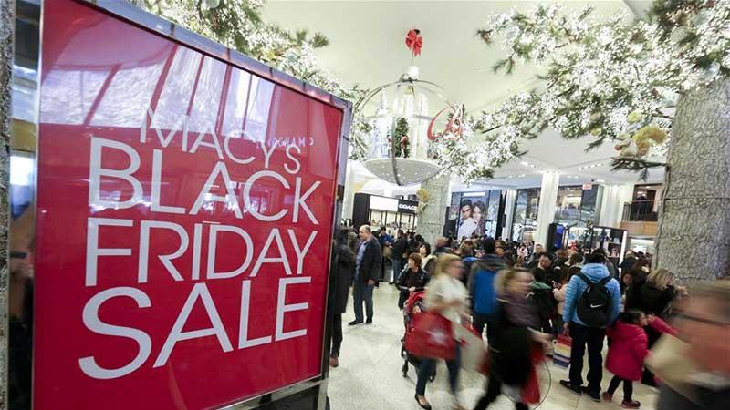 """""""黑色星期五""""开启美国购物季"""