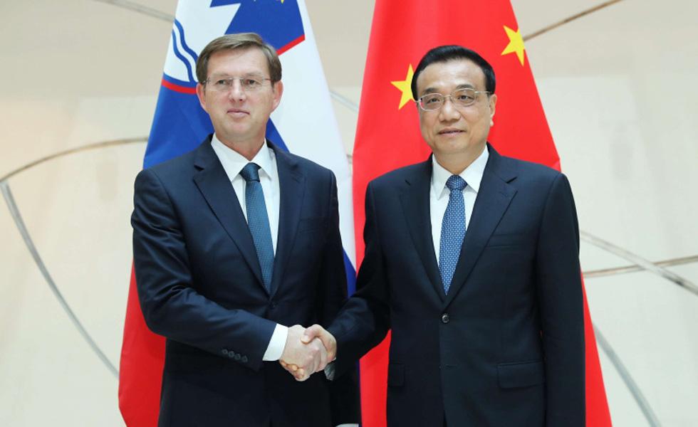 李克强会见斯洛文尼亚总理采拉尔