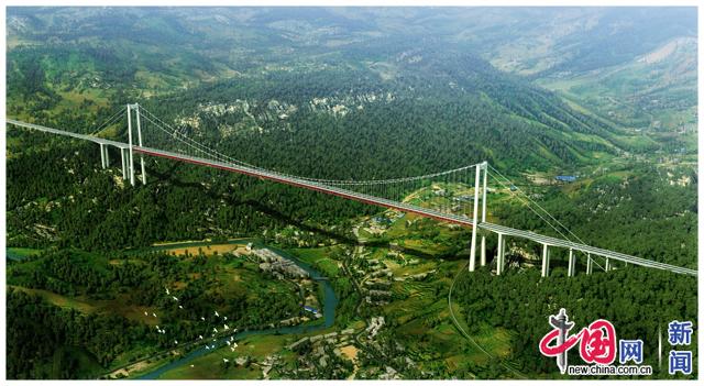大河特大桥效果图。图由中国建筑提供。