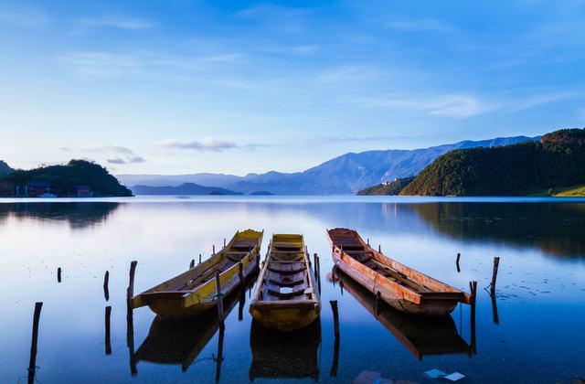 泸沽湖天水一色 宛如人间仙境