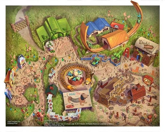 """上海迪士尼:""""玩具总动园""""园区明年夏季前开放新增三大游乐项目"""