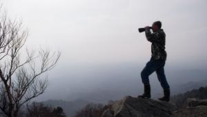 高山顶上的林场瞭望员