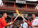 شعلة اولمبياد بكين فى تشينهوانغداو