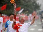 شعلة اولمبياد بكين فى مدينة تيانجين