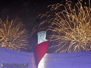 اطفاء شعلة اولمبياد بكين للمعاقين
