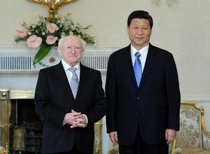 نائب الرئيس الصيني يلتقي بالرئيس الايرلندي بشأن تعزيز العلاقات الثنائية