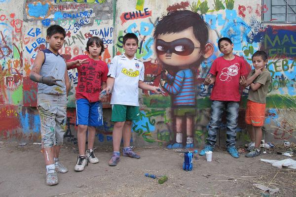 الجرافيتي : فن رسوم وكتابة علي الجدران