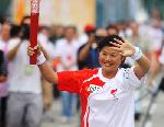La Flamme olympique à Chengdu
