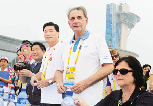 Visite du président du CIO à Qingdao