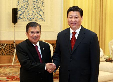 La Chine est prête à oeuvrer avec l'Indonésie pour promouvoir la coopération stratégique bilatérale, a déclaré le vice-président Xi Jinping dimanche à Beijing.