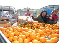 Les produits agricoles abondent sur les marchés des régions sinistrées par le séisme de Wenchuan