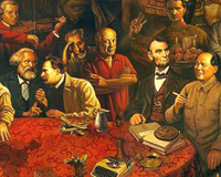 Une centaine de personnalités réunies sur une même peinture