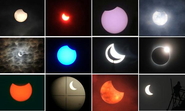 L'éclipse de Soleil en images